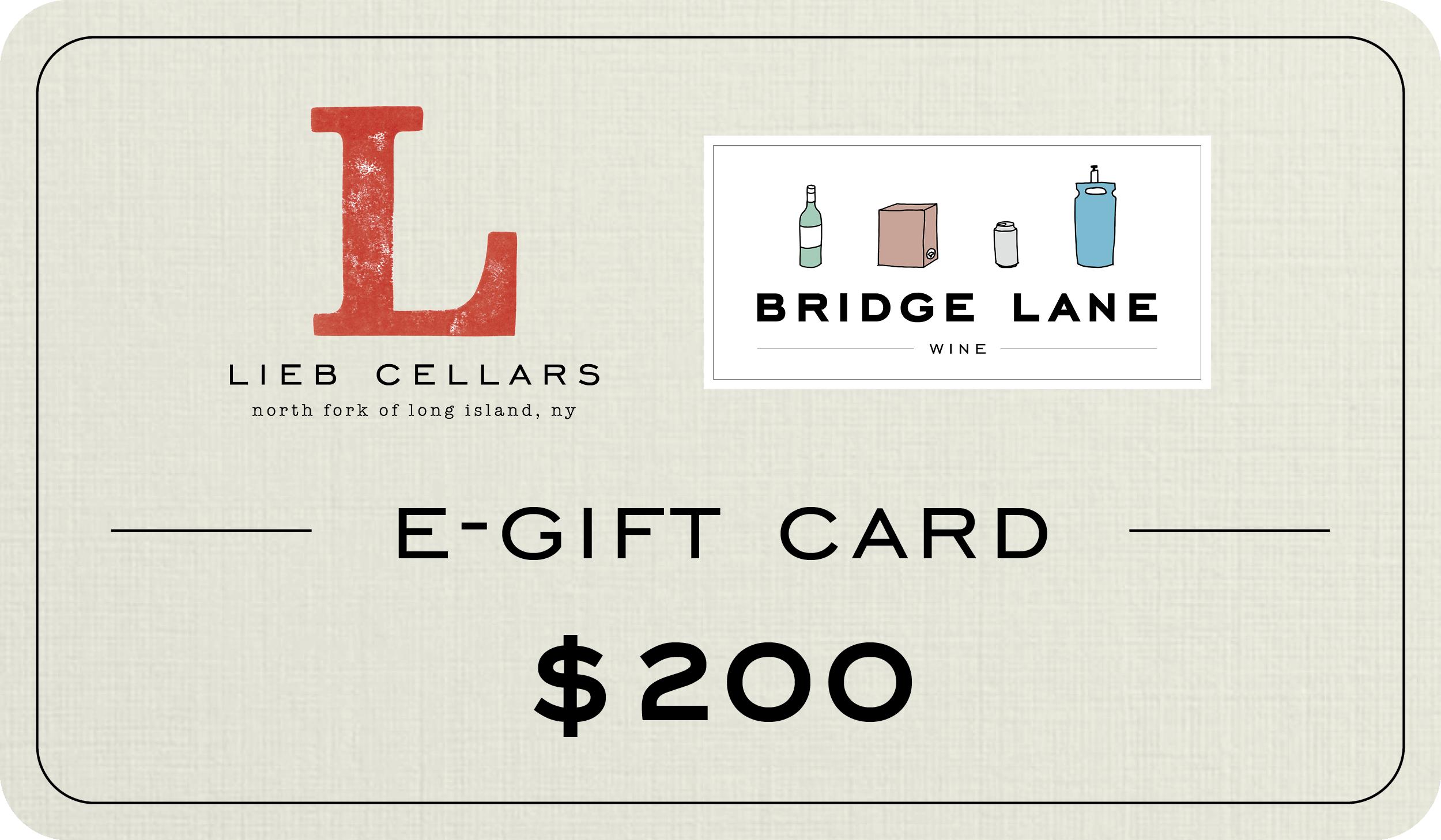 $200 E-Gift Cards